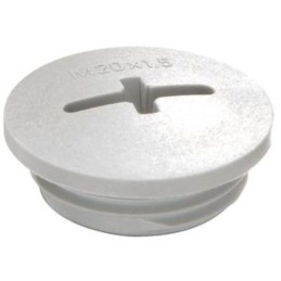Blindprop med gevind M12 plast grå