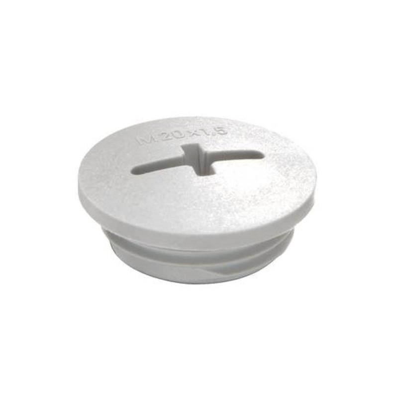 Blindprop med gevind M20  plast grå