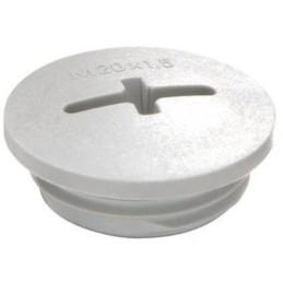 Blindprop med gevind M63 plast grå