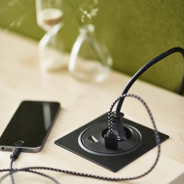Deskline Circle - Strøm,USB,HDMI, kabelhuller
