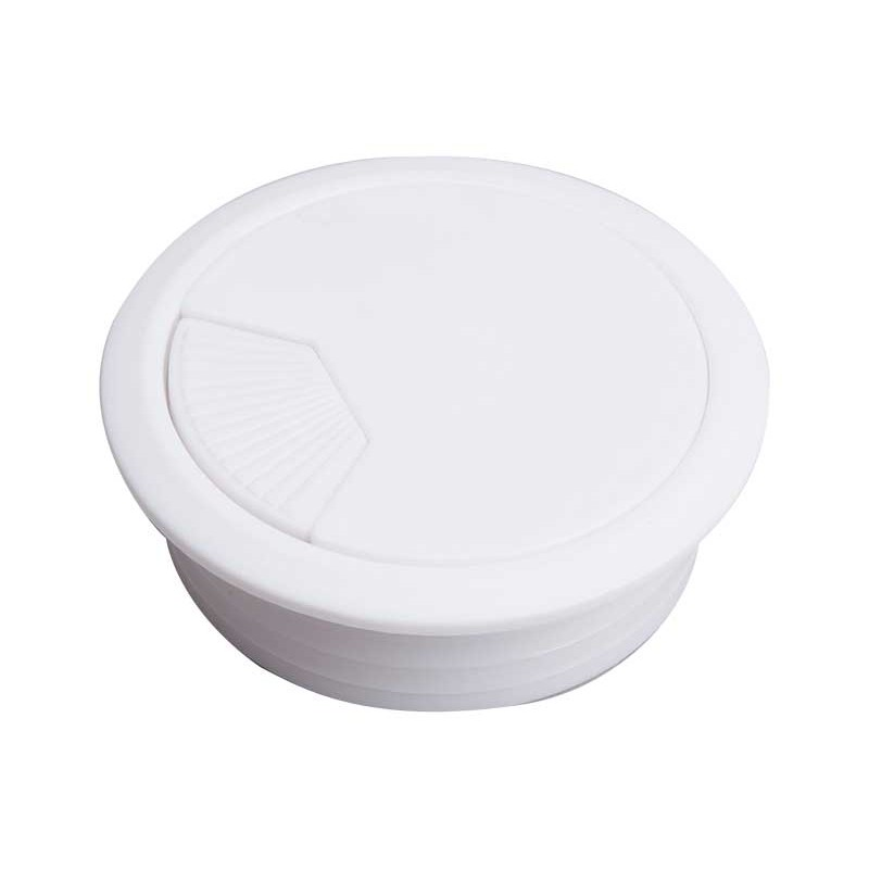 Bordgennemføring 60mm hvid plastic