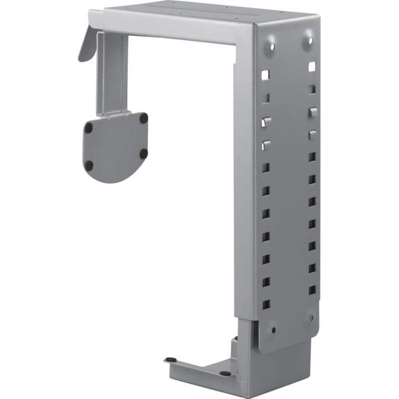 Computerholder under bord, justerbar, sort