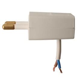 Stikprop, flad, E-line +, hvid
