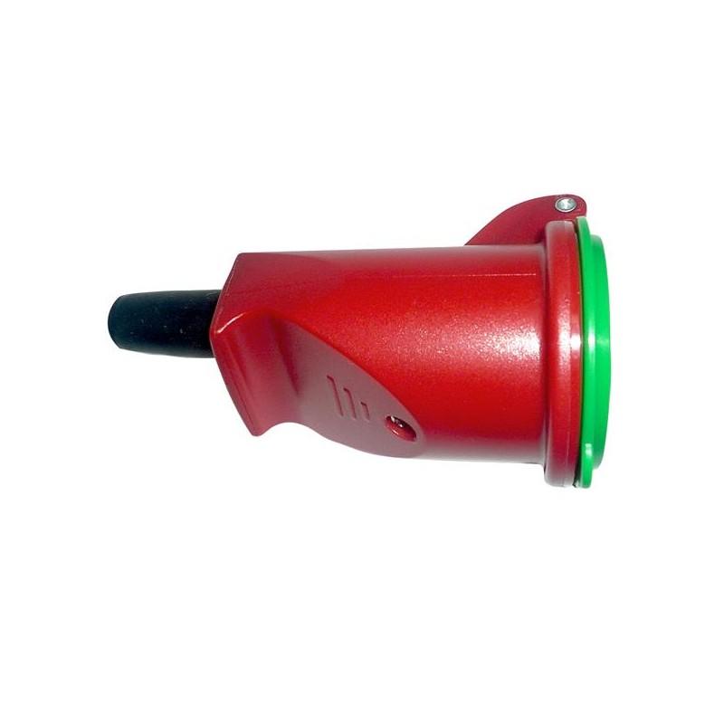 Forlængerled, rund ,med jord, rød/grøn