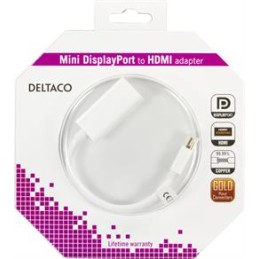 MINI Displayport til HDMI adapter, 0,2m, hvid