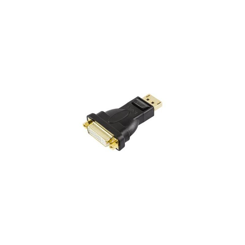 DisplayPort til DVI-D Single Link adapter, sort