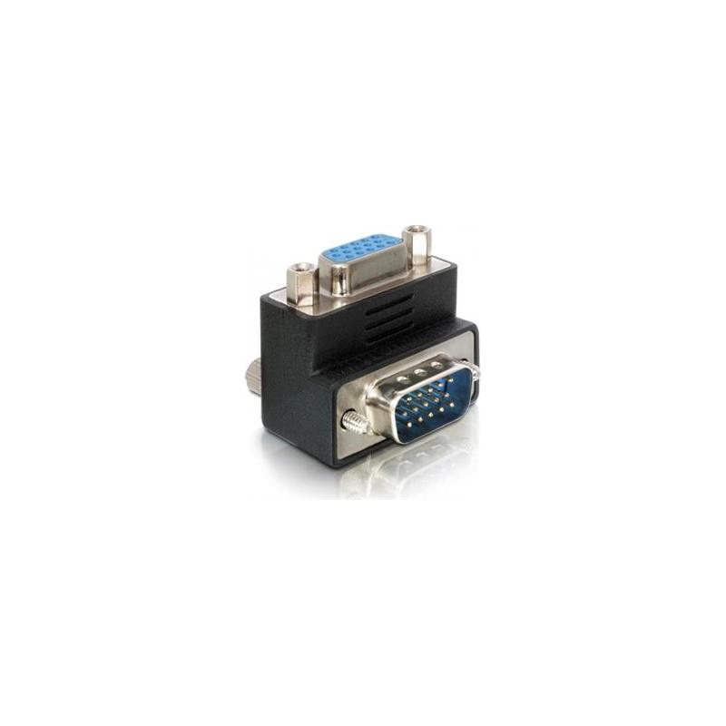 adapter, HD15 han - HD15 hun, vinklet