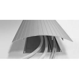 Gulvkanal 160x17mm elokseret aluminium