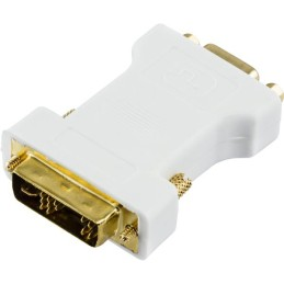 DVI adapter analog DVI - analog VGA, han - hun, hvid