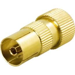 Antennestik, 9,5mm hun, skruemontering, guldpletteret stik